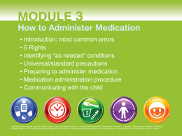 Medication Administration in Early Education and Child Care Settings