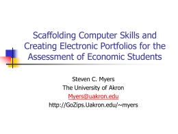 Scaffolding Computer Skills and Creating Electronic Portfolios for