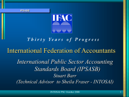 ipsasb - INTOSAI`s Professional Standards Committee (PSC)