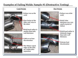 Weld Testing Clarification Sheet