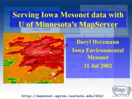 Serving Iowa Mesonet data with U of Minnesota`s MapServer