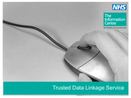Trusted Data Linkage Service - E-Suppliers