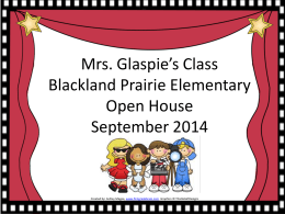 open house power point - glaspie