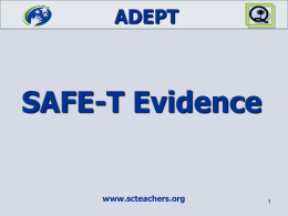 2 - SAFE-T Evidence