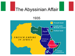 The Abyssinian Affair - Deans Community High School