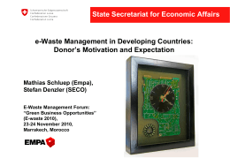 SECO - E-waste Managmenet Forum