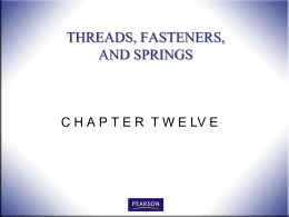 Threads and fasteners - Ivy Tech -