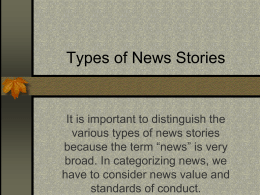 Types of News Stories