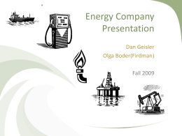 Energy Sector Stock Presentation