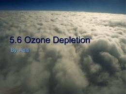 5.6 Ozone Depletion