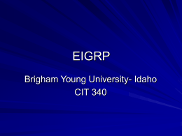 eigrp - Brigham Young University
