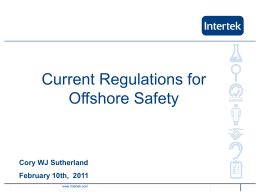 Current Regulations for Offshore Safety