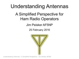 Understanding Antennas-A Simplified Perspective