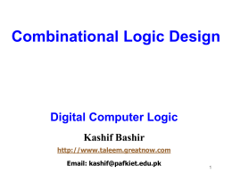 Module 3 – Combinational Logic Design