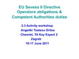 EU Seveso II aim