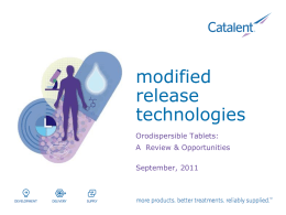 Modified Release Technologies