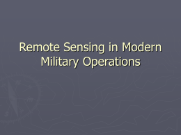 GIS and Remote Sensing in Modern Military Operations