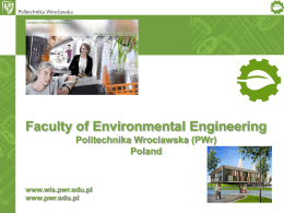 Study in English at the Faculty of Environmental Engineering
