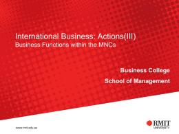 BUSM1222: International Management