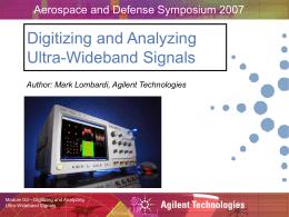 Digitizing and Analyzing Ultra-Wideband Signals