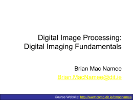 Digital Image Processing: Introduction
