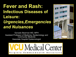 Fever and Rash: Infectious Diseases of Leisure