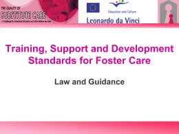 Training, Support and Development Standards for Foster Care Law