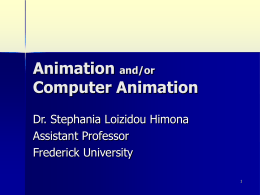Animation [and/or Computer Animation]