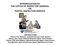 the postal inspection service and your rights
