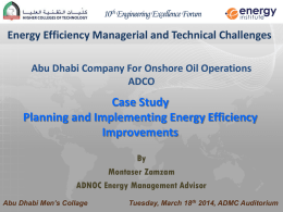Planning and Implementing Energy Efficiency Improvements, ADCO