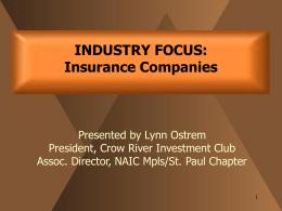 Public/Industry Study Folders/Insurance Industry Study