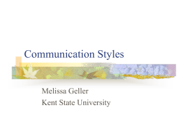 Communication Styles - Kent State University