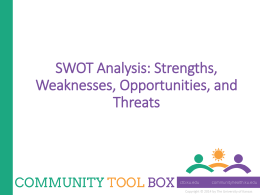 SWOT Analysis: Strengths, Weaknesses, Opportunities, and Threats
