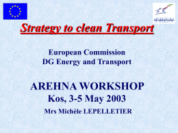 EU Policy: Strategy to clean airban transport