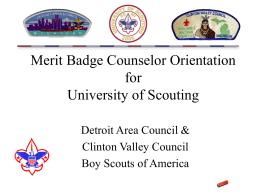 Merit Badge Counselor Orientation