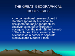 THE GREAT GEOGRAPHICAL DISCOVERI