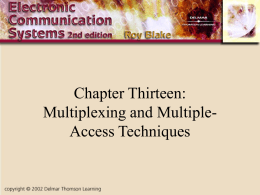 Multiplexing and Multiple-Access Techniques