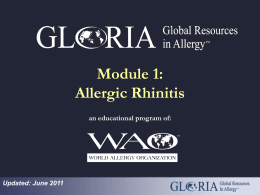 Allergic Rhinitis - World Allergy Organization