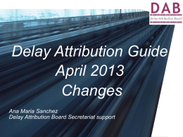 Delay Attribution Guide April 2011 Changes