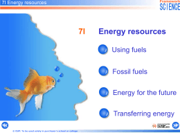 Energy resources ppt File - Watford Grammar School for Boys Intranet