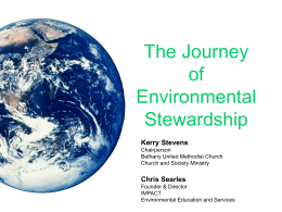 The Journey of Environmental Stewardship