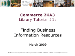 Finding Business Information Resources