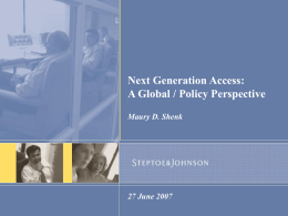 Next Generation Access