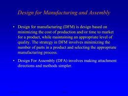 DFM and DFA Design Guidelines