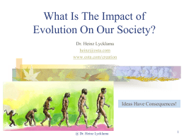 The Impact of Evolution on Society