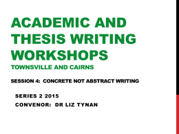Academic Writing Workshop Series 2 2015_Seminar 4