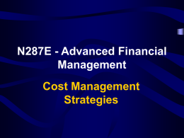 N287E - Advanced Financial Management