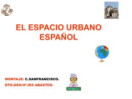 El espacio urbano español - Material Curricular Libre