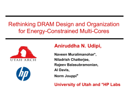 Rethinking DRAM Design and Organization for Energy