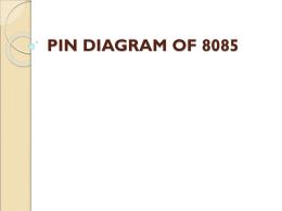 Pin Diagram of 8085